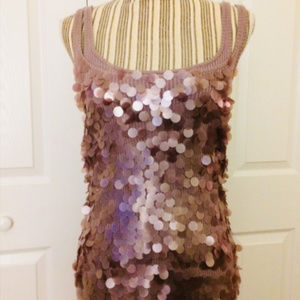 Laundry by Shelli Segal lilac sequin tank